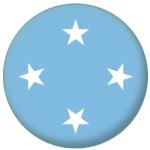 Micronesia Country Flag 58mm Button Badge